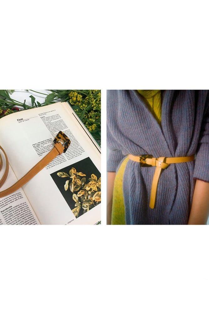 Paloma Wool Cali Leather Belt Yellow