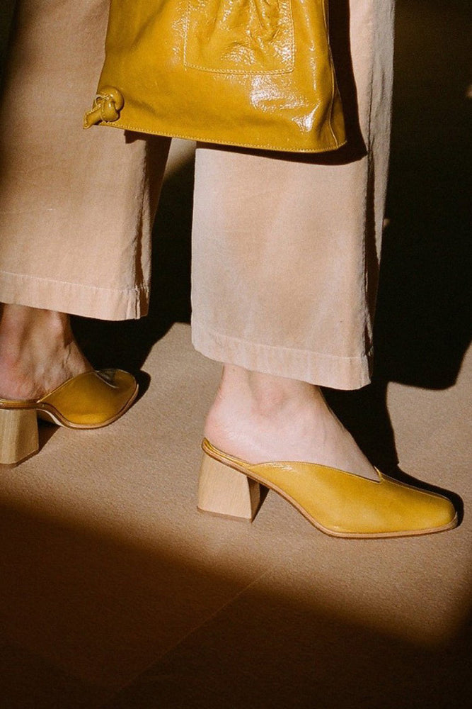 Paloma Wool Galapago Mules Dark Yellow