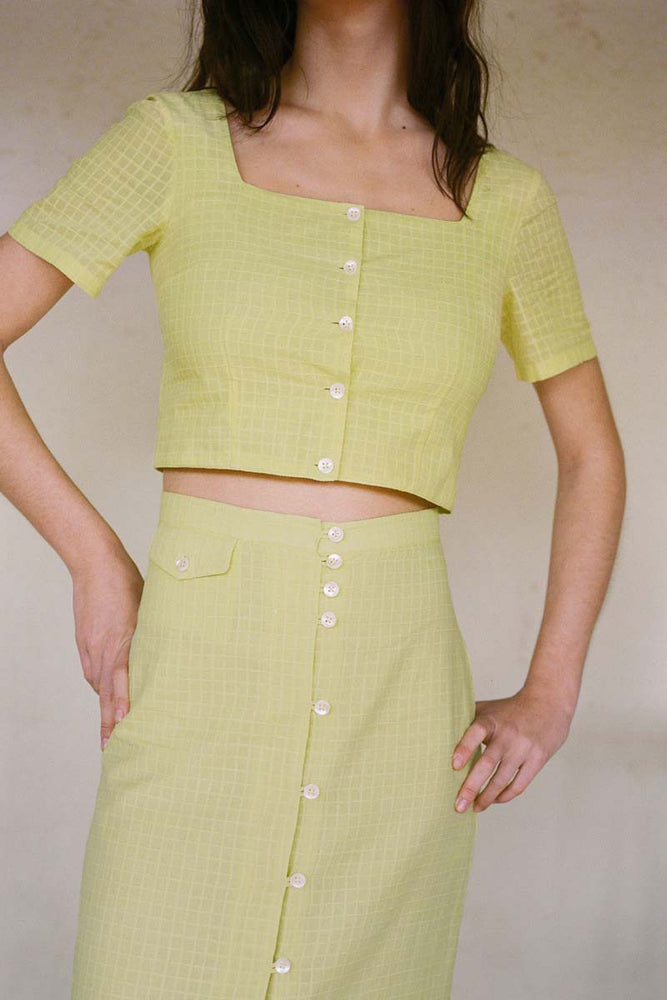 Lenna Crop Top Light Green
