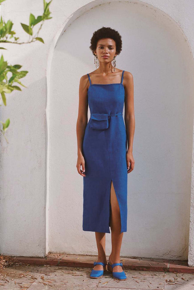 Paloma Wool Museo Linen Dress Intense Blue