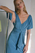 Silvana Midi Dress Soft Blue