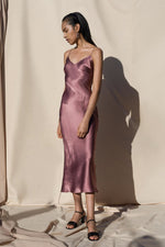 Pari Desai Sandoval Silk Slip Dress Mauve