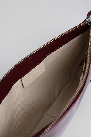BY FAR Rachel Bag Burgundy Patent Leather