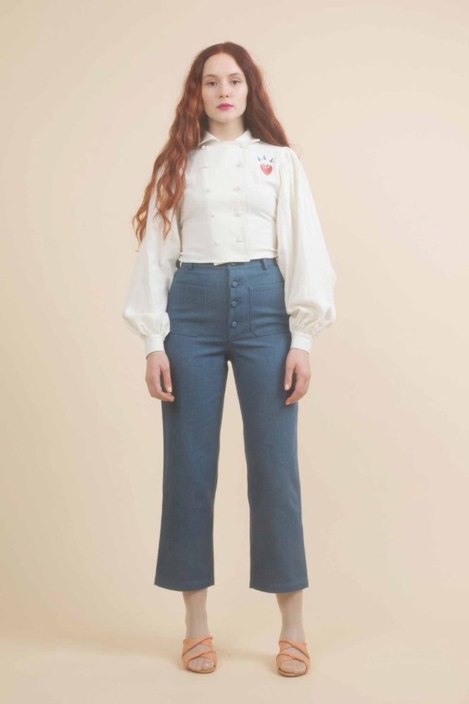 Samantha Pleet Embroidered Pastry Blouse