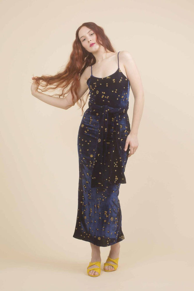 Samantha Pleet Stardust Dress Midnight
