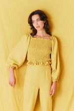 Samantha Pleet Daisy Top Sunflower Yellow