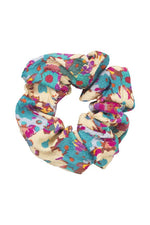 Stine Goya Daisy Field Teal Scrunchy Accessories