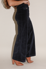 Sugarhigh Lovestoned Woody Corduroy Wide Leg Pants Navy