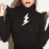 Sugarhigh Lovestoned Bowie Turtleneck Black
