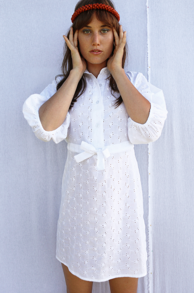 Sugarhigh Lovestoned Mia Dress White Eyelet