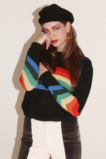 Sugarhigh Lovestoned Rainbow Sweater Black