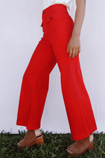 Sugarhigh Lovestoned Woody Wide Leg Pants Tomato Red