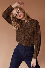 Sugarhigh Lovestoned Tears For Fears Blouse Leopard