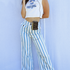 Sugarhigh Lovestoned Woody Wide Leg Pants Blue Stripe