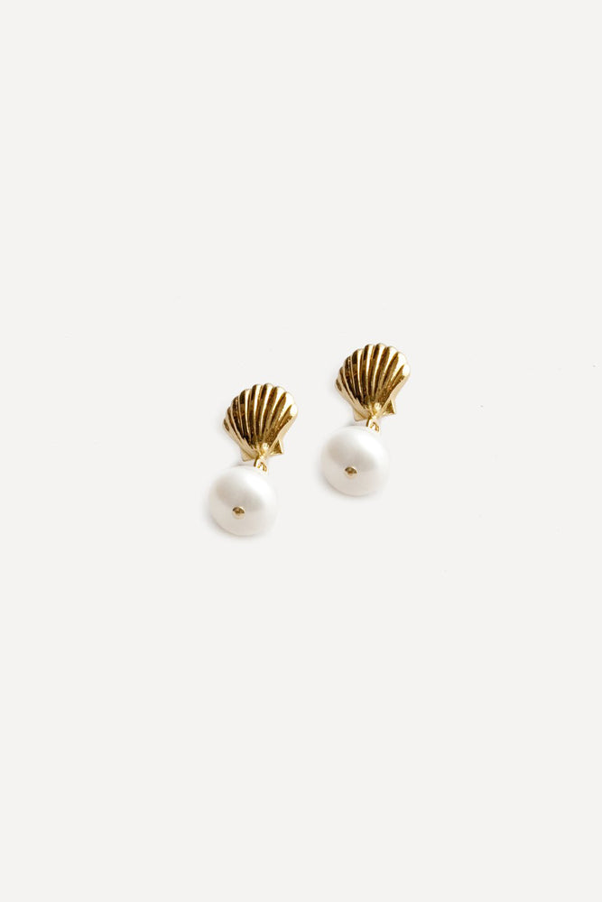 Marcel Pearl Drop Earrings Gold