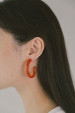 Large Glass Hoops Tangelo