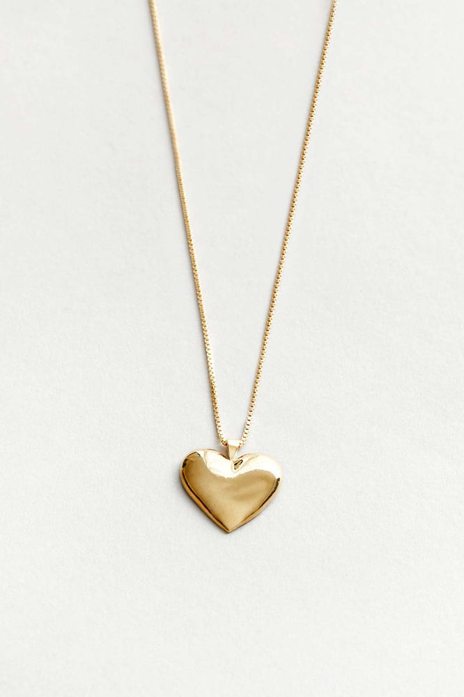 Wolf Circus Amourette Heart Necklace Gold
