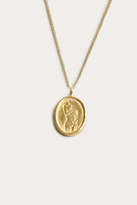 Wolf Circus Femme Pendant Necklace Gold Jewelry