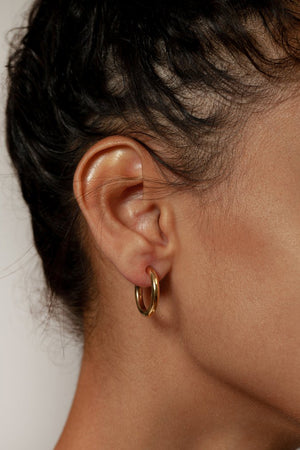 Load image into Gallery viewer, Wolf Circus Gia Hoop Earrings Gold