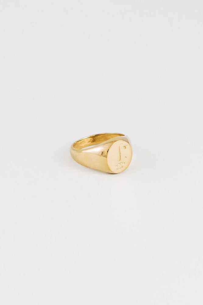 Load image into Gallery viewer, Wolf Circus Matisse Signet Ring Gold Jewelry