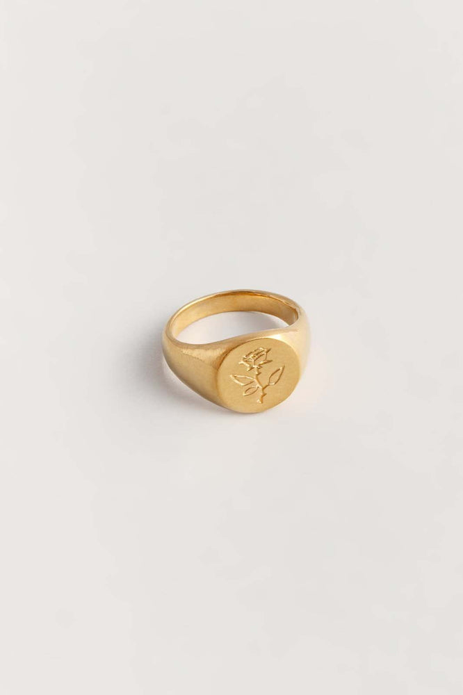 Wolf Circus Rose Signet Ring