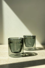 Double Walled Glasses Set Grey
