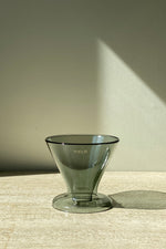 Double Wall Glass Pour Over - Grey