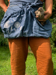 100% Natural Linen Garden Aprons with Deep Zippered Pocket.