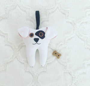 Boy Tooth Pillow,  Boy Tooth Fairy Pillow, Free to Personalize, Fast Shipping, Tooth Pouch, Rufus the Dog Tooth Fairy Pillow, Personalize It