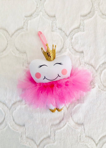 New!! Princess Tooth Fairy Pillow with Crown and Tutu, Gifts under 25