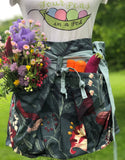 Deep Pocketed Gathering Apron, Basket apron, Produce apron, Half Apron