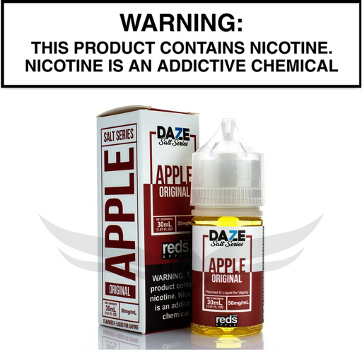 reds 7daze apple salt nic 30 mL eliquid