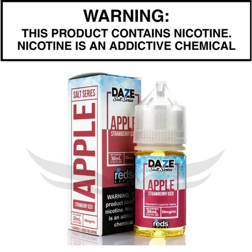 Reds 7daze salt nic strawberry iced ejuice 30 mL and 50mL