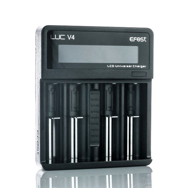 Efest LUC V4 - 4 Bay Battery Charger with Digital LCD Screen