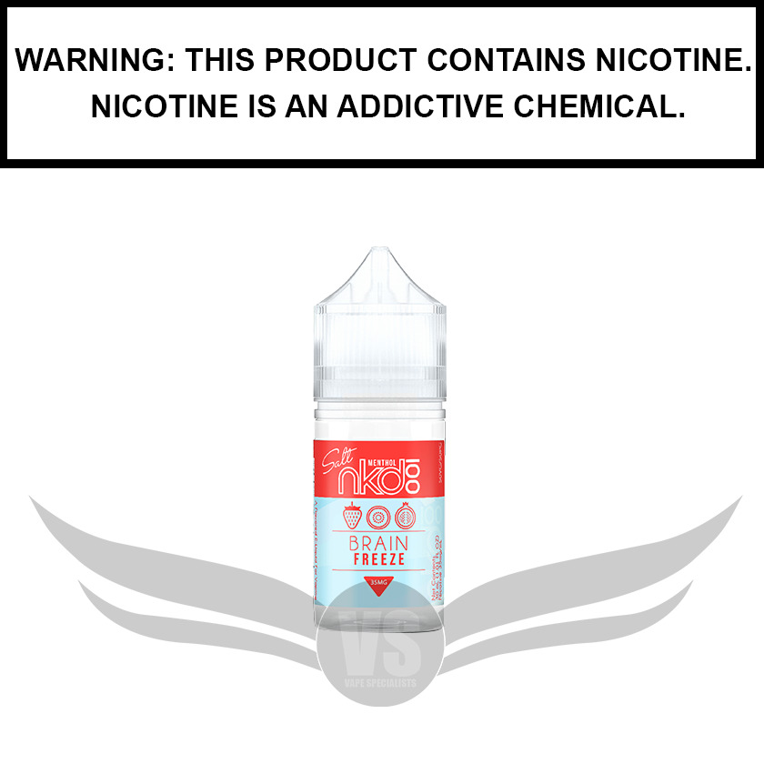 Naked 100 Menthol | Strawberry Pom (formerly Brain Freeze) - Salt Nic eJuice (30ml)