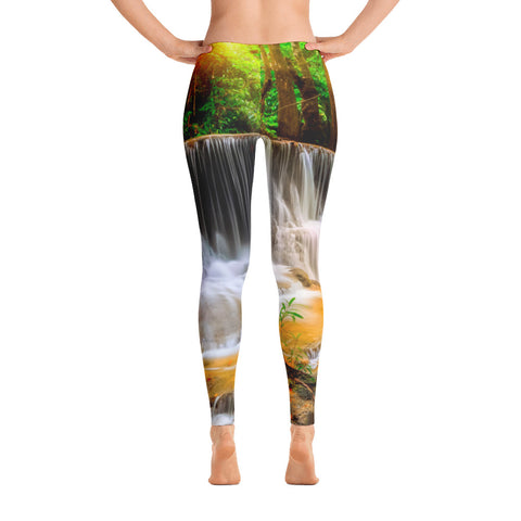 Forest Waterfall Low Waisted Leggings