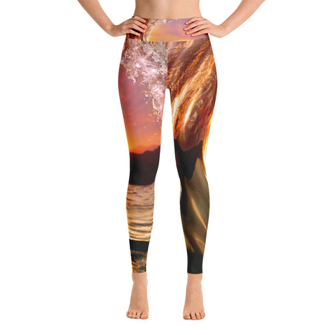 Eye of the Sun High Waisted Yoga Leggings