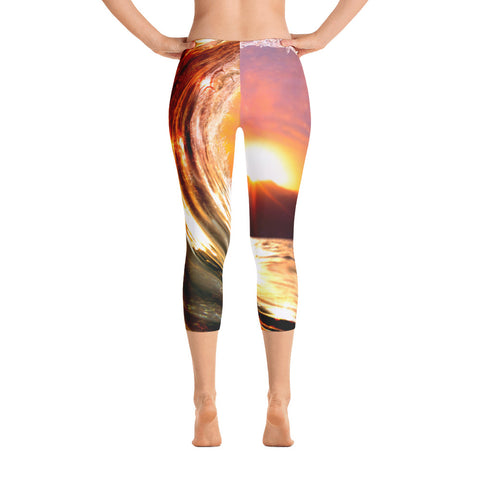 Eye of the Sun Low Waisted Capri Leggings