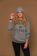 XO Hugs and Kisses Hoodie His Tee Grey