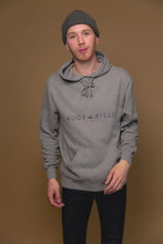 XO Hugs and Kisses Hoodie Street Grey
