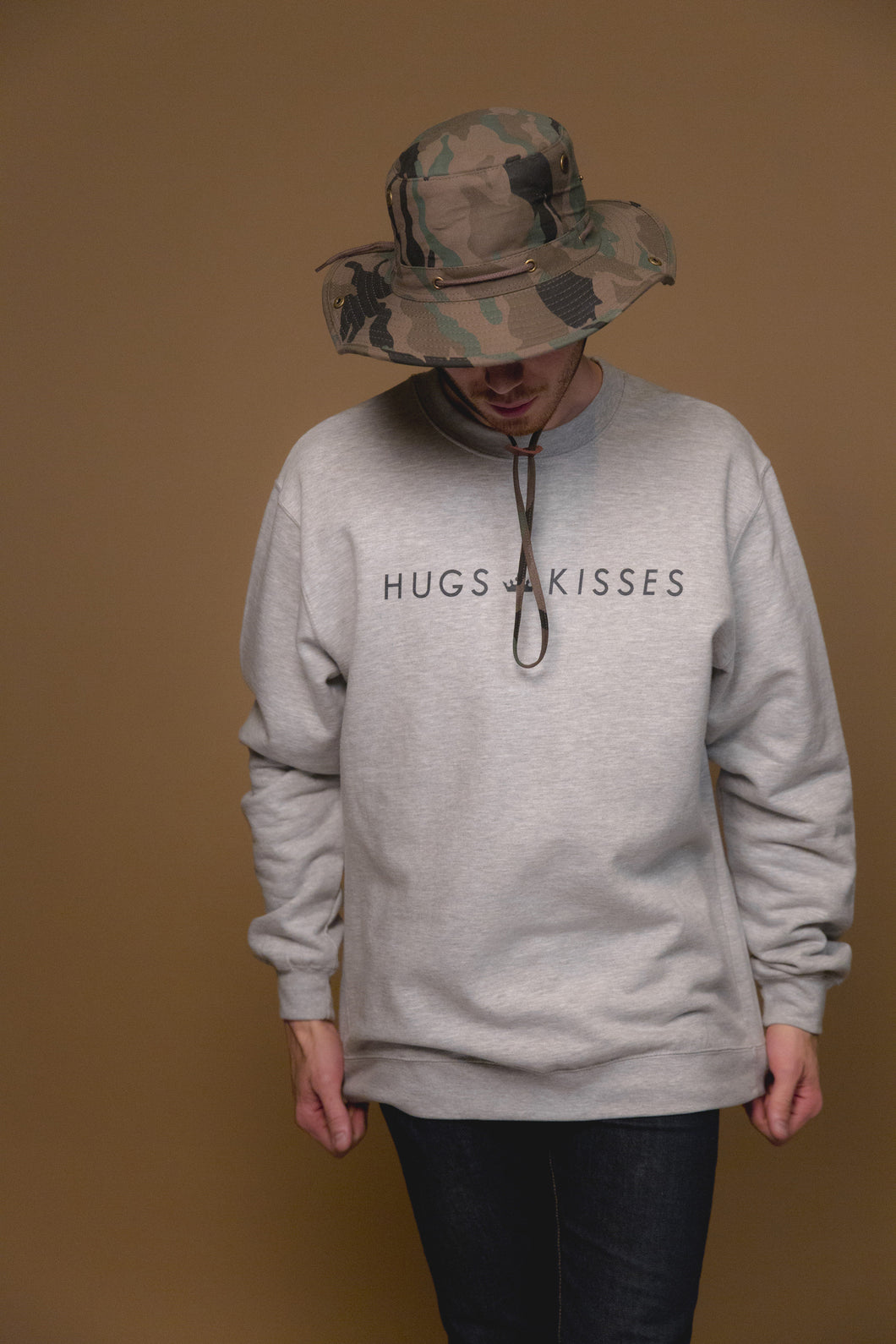 XO Hugs and Kisses Crewneck Street Grey
