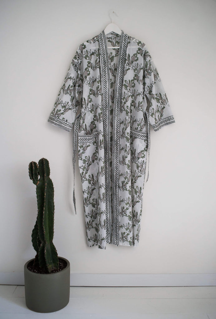 Prickly Pear Robe in Green