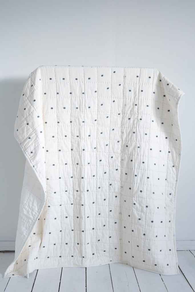 Dot-Dash Quilt & Robe Gift Set