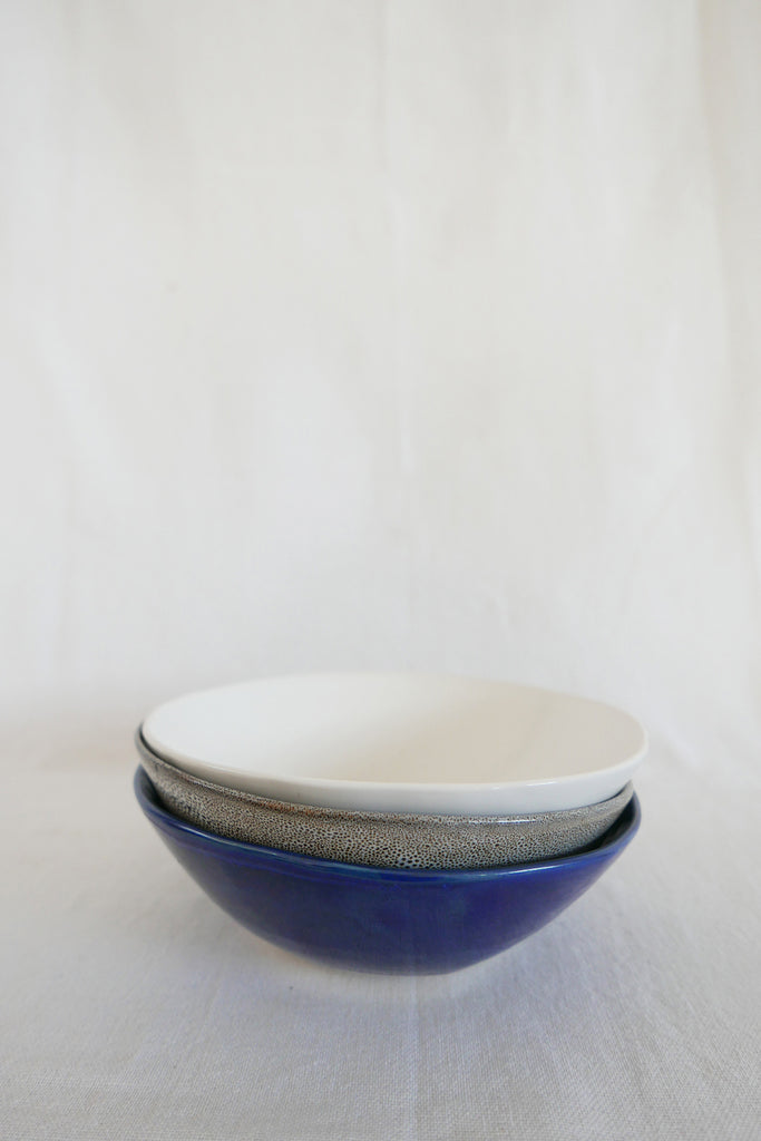 Mervyn Gers Bowl in White Glaze