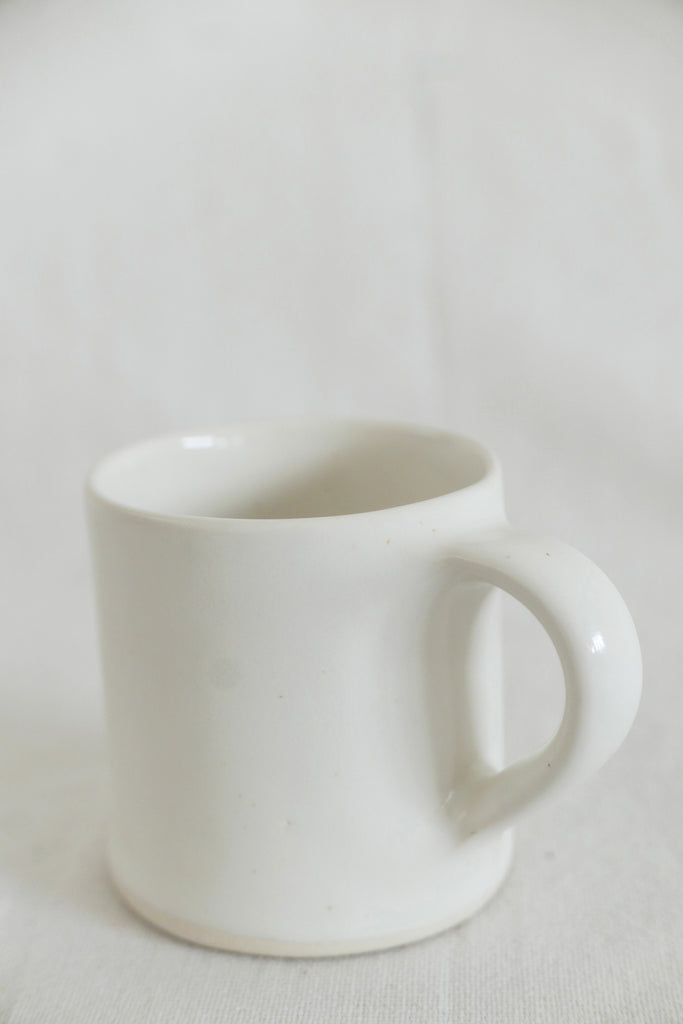 Mervyn Gers Coffee Cup in White Glaze