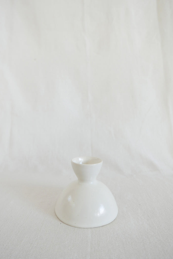 Mervyn Gers Egg Cup in White Glaze