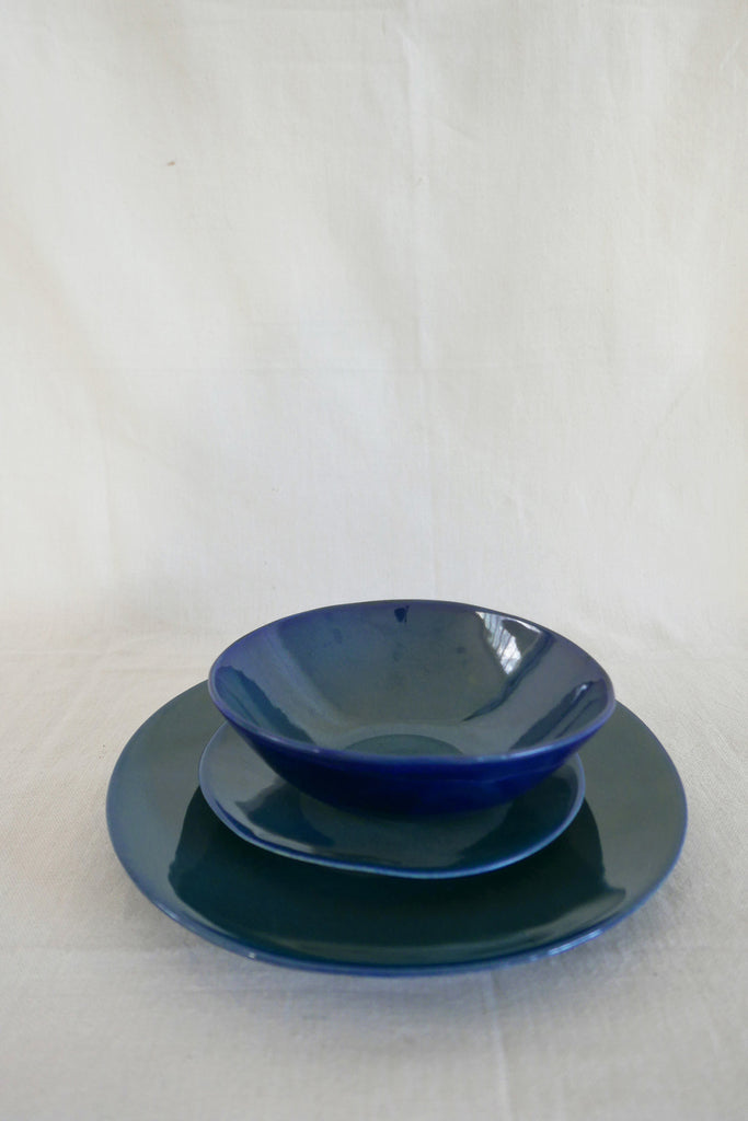 Mervyn Gers Side Plate in Blue Glaze