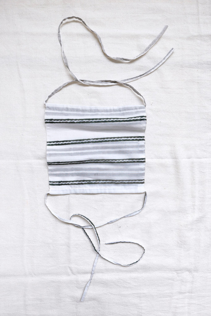 Set of Face Masks in Striped Cotton
