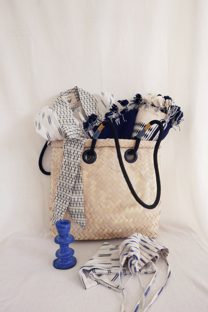Ikat Holiday Basket