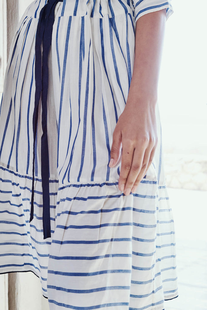 Striped Ikat Puff Skirt